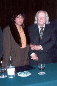Maria del Valle con Rafael Alberti